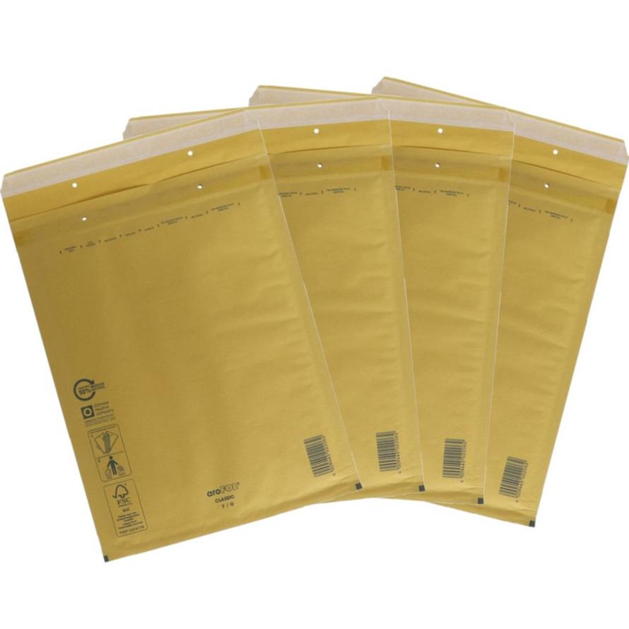 100x stuks bubbel luchtkussen enveloppen bruin 35 x 47 cm