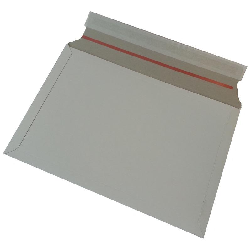 100x stuks kartonnen enveloppen wit 38 x 26 cm