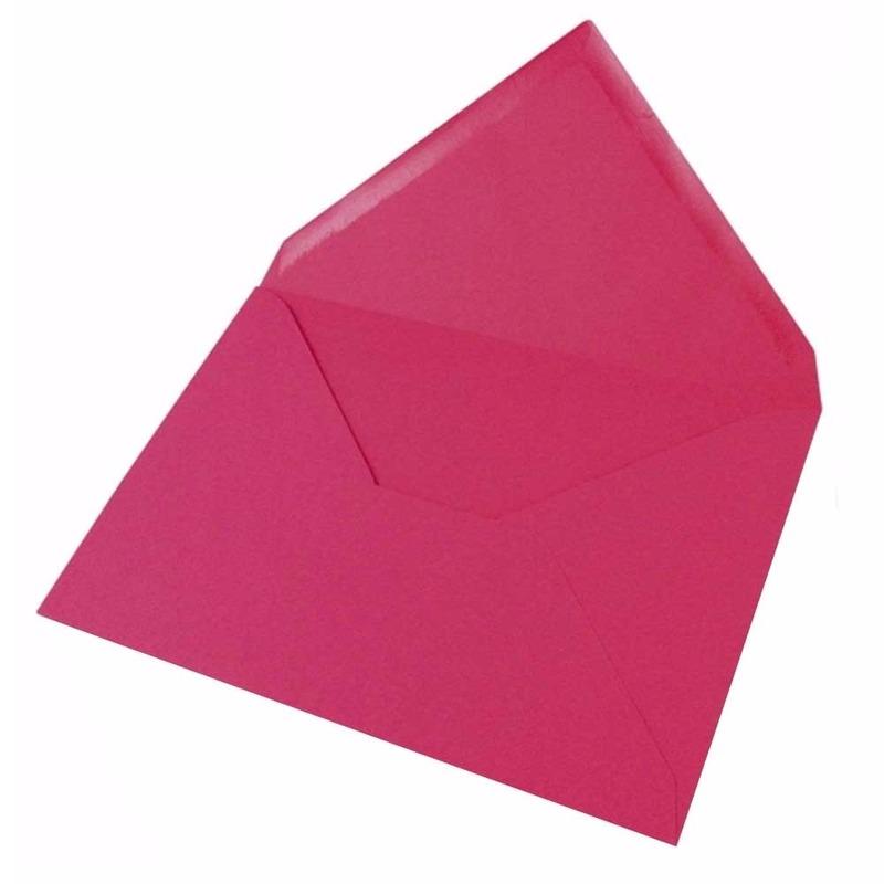 10x fuchsia enveloppen voor a6 kaarten