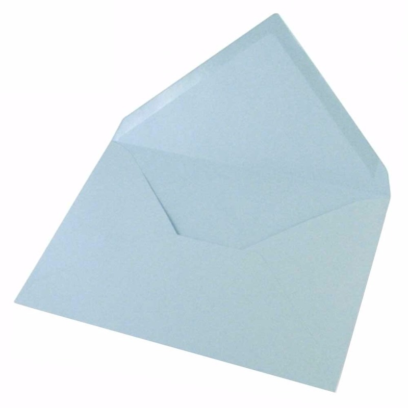 10x lichtblauwe enveloppen voor a6 kaarten