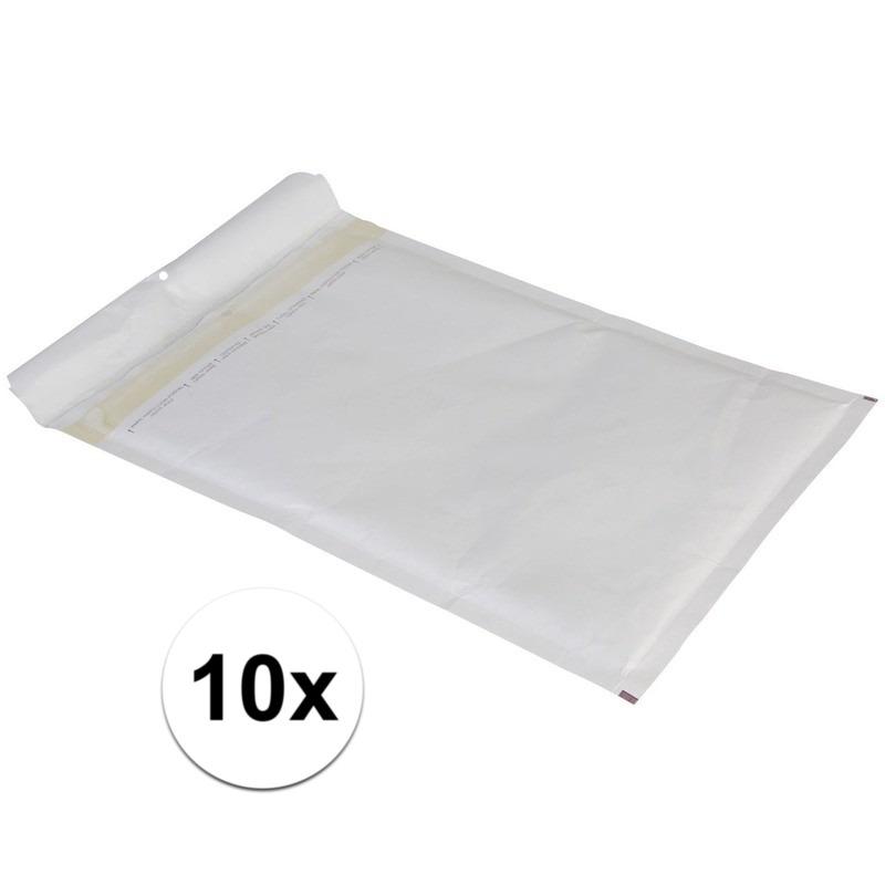10x luchtkussen enveloppen wit 26 x 18 cm