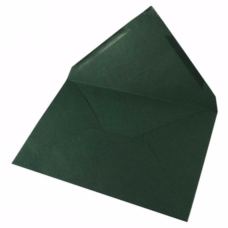 15x donkergroene enveloppen voor a6 kaarten