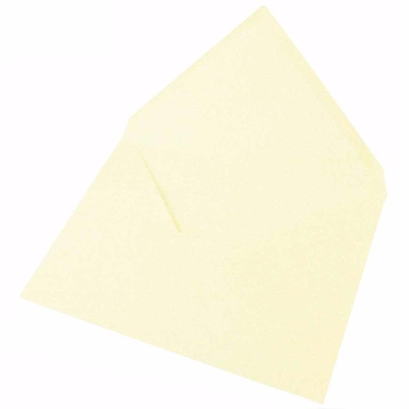 15x ivoor kleur enveloppen voor a6 kaarten