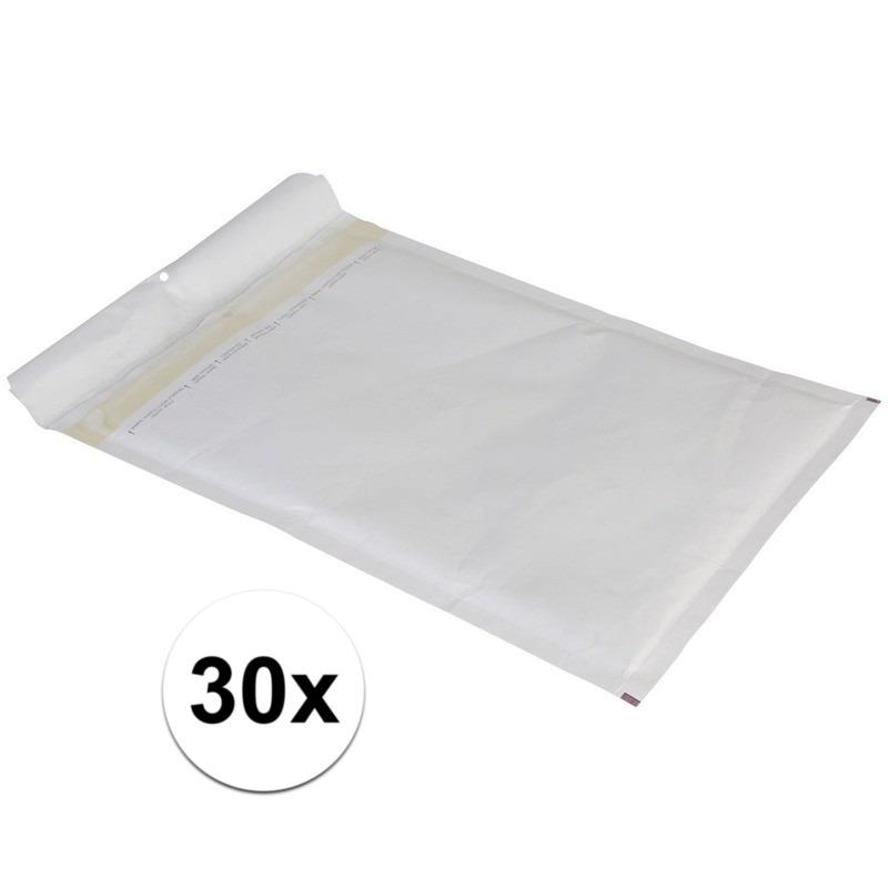 30x luchtkussen enveloppen wit 26 x 18 cm