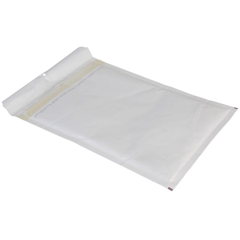 60x stuks luchtkussen enveloppen wit 26 x 18 cm