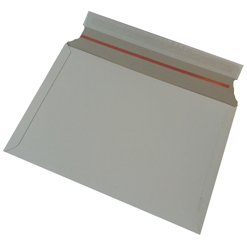 80x stuks kartonnen enveloppen wit 38 x 26 cm